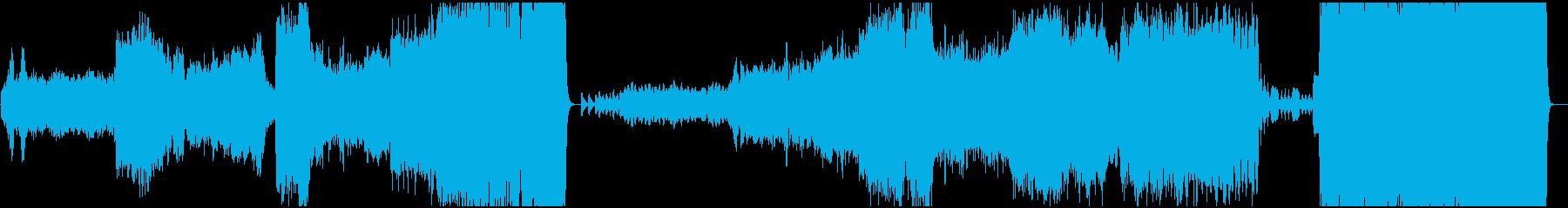 年末のBGMベートーベン第九より歓喜の歌の再生済みの波形