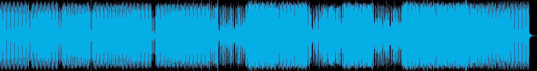 テクノのリズミカルでスタッカートの...の再生済みの波形