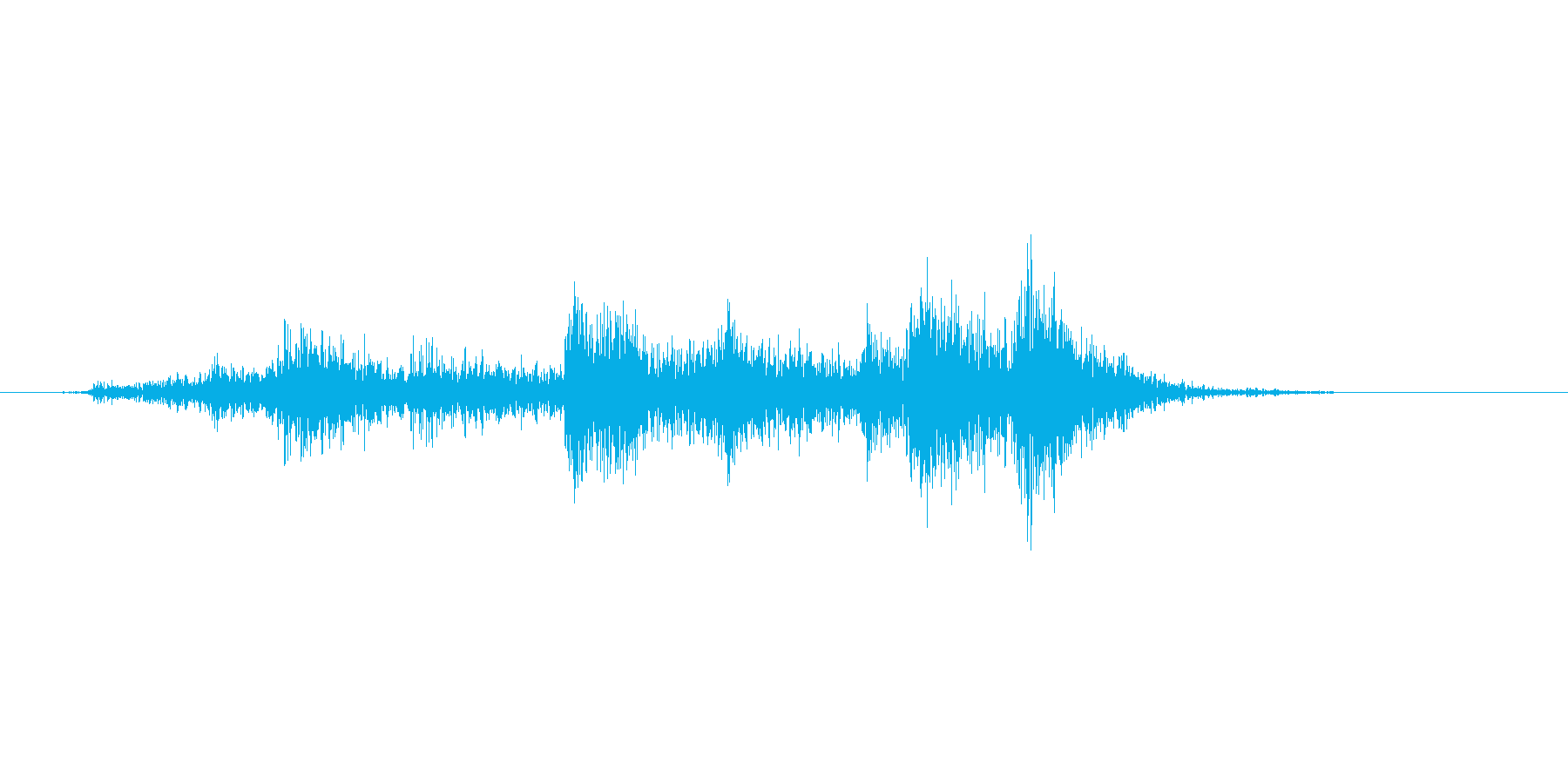 雨戸をあける音、ガラガラの再生済みの波形