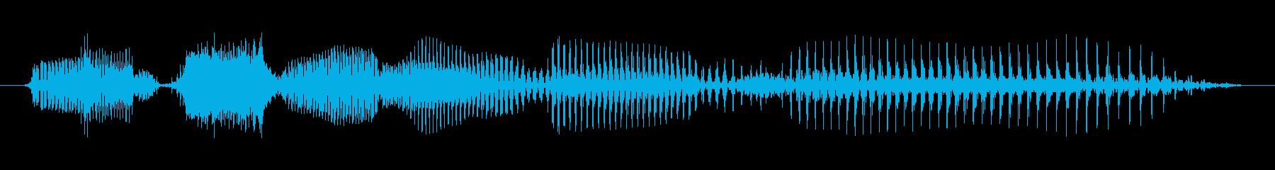シニア男性A:寝ている犬に嘘をつくの再生済みの波形