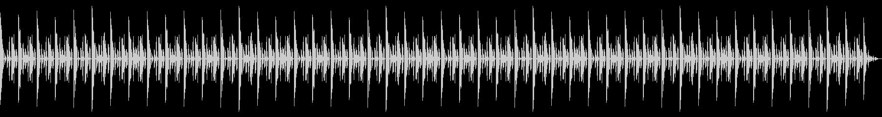 明るめの雰囲気のシンプルなリズムBGMの未再生の波形