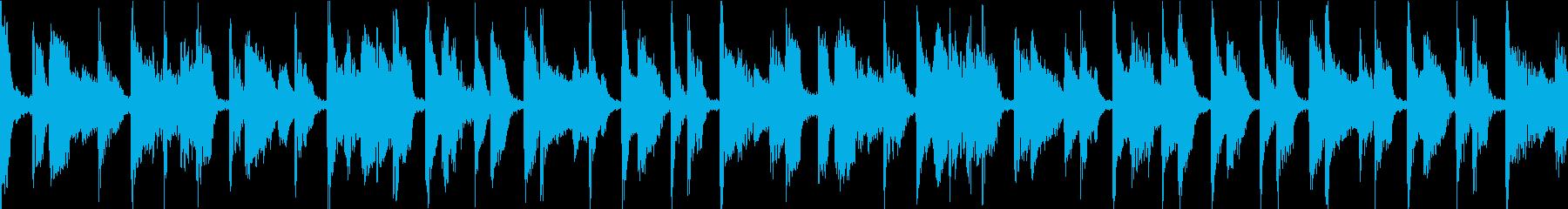 カフェ風 ジャズ ループの再生済みの波形