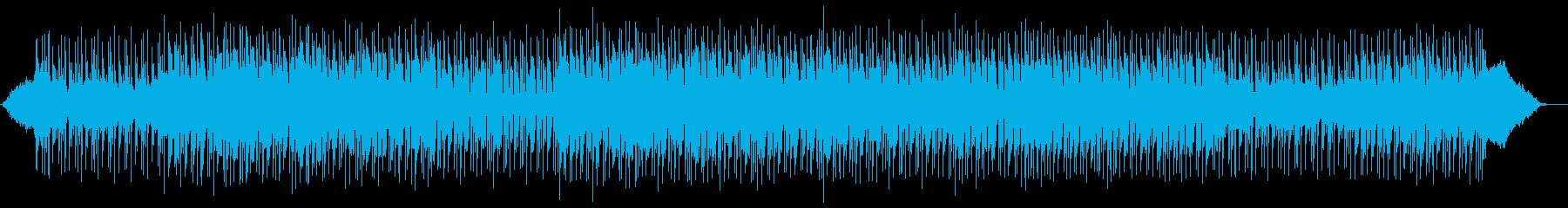 落ち着き広がりのあるシンセサイザーの曲の再生済みの波形