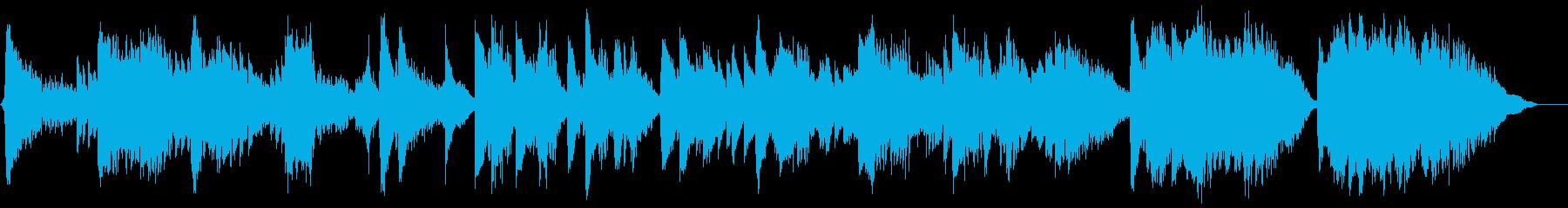 不思議な雰囲気のシンセサイザーとピアノの再生済みの波形