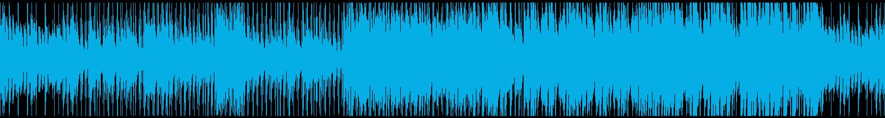 シリアスバトルなピアノジャズ(ループ)の再生済みの波形