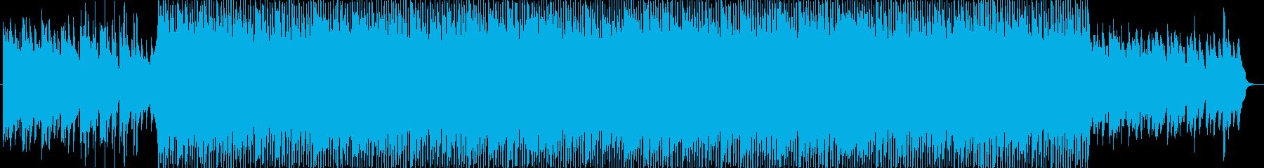 リズミックなポップBGMの再生済みの波形