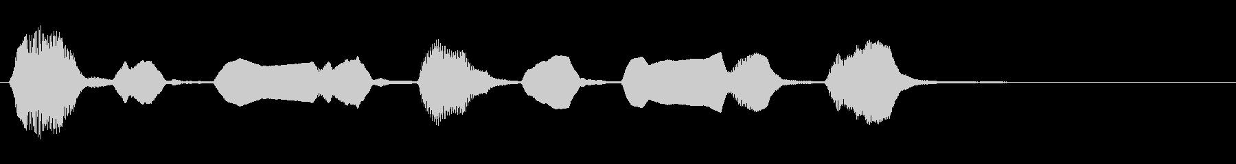 リコーダーの素朴なジングルの未再生の波形