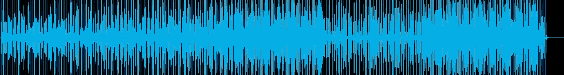軽快なファンクの再生済みの波形