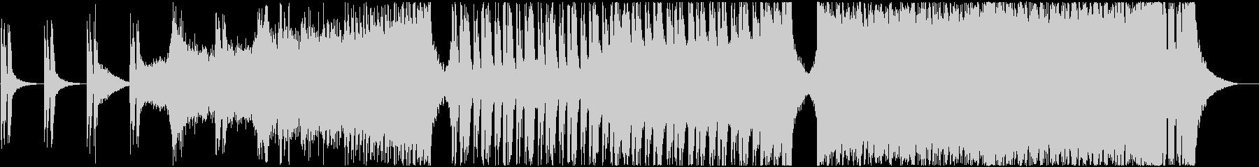 モダンでパワフルなアクションBGMの未再生の波形
