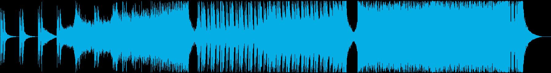 モダンでパワフルなアクションBGMの再生済みの波形