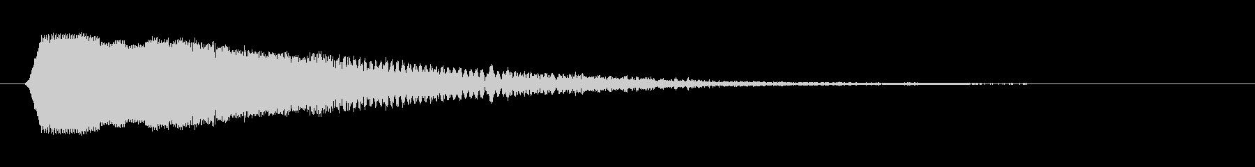 ピロン(クリック音)の未再生の波形
