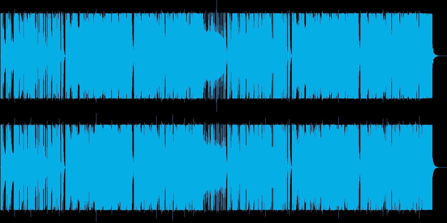 悲しげでムーディなBGMの再生済みの波形