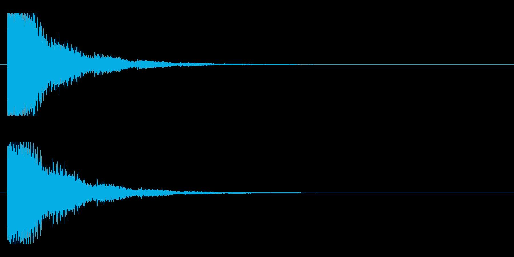 レーザー音-14-2の再生済みの波形