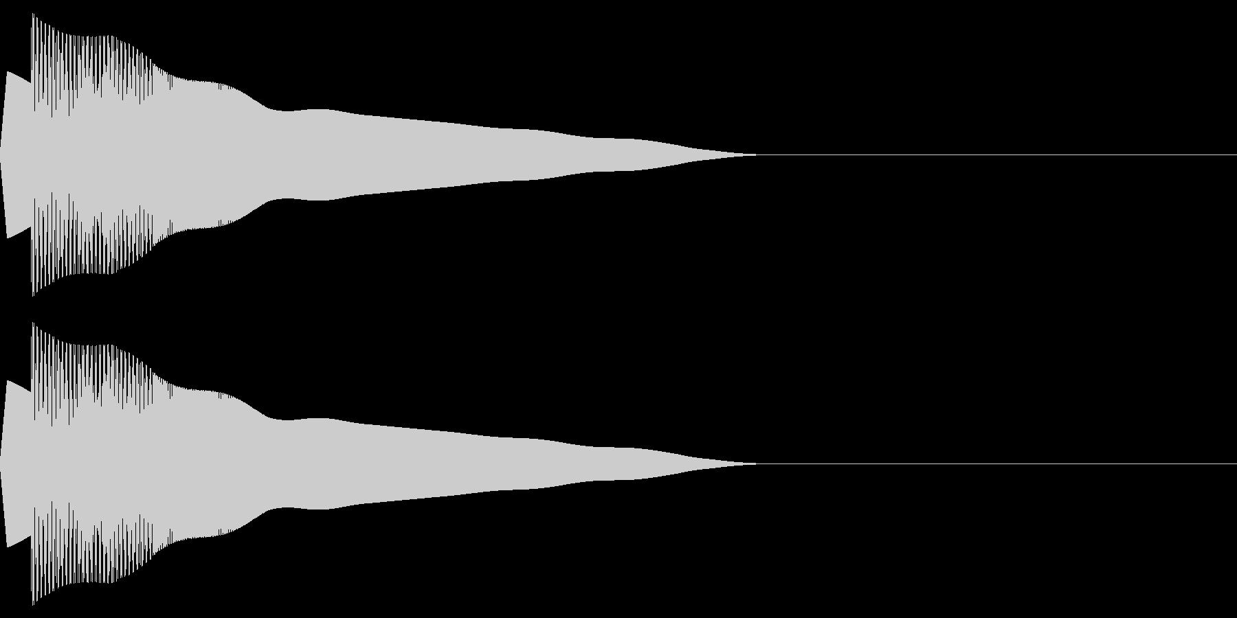 ピヨポン(決定/選択/かわいい/ピコピコの未再生の波形