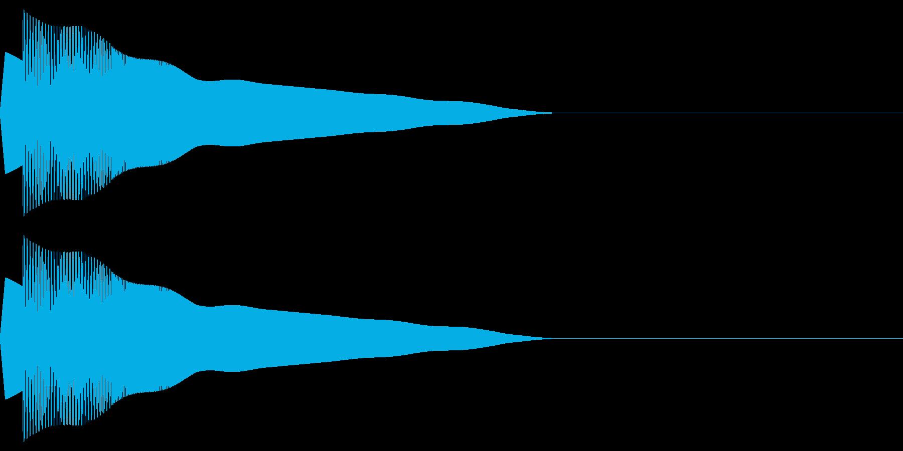 ピヨポン(決定/選択/かわいい/ピコピコの再生済みの波形