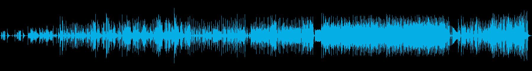 トークの邪魔をしないバンドサウンドBGMの再生済みの波形