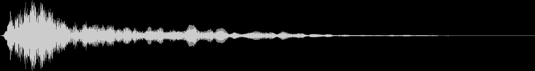 【衝撃音】ゴーッ・ドンッ・・・の未再生の波形