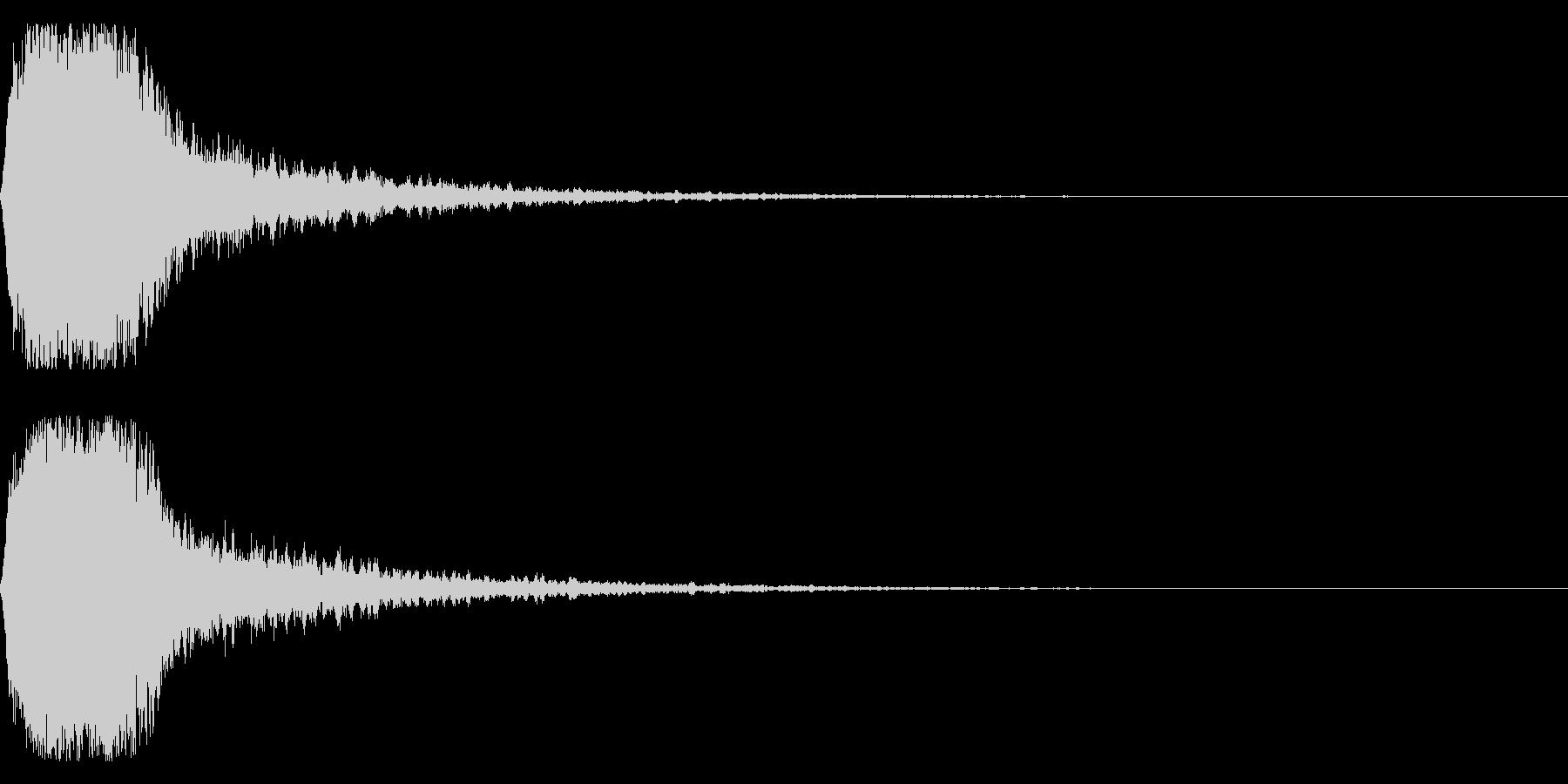 グシャ!刀や剣の斬撃音 16vの未再生の波形