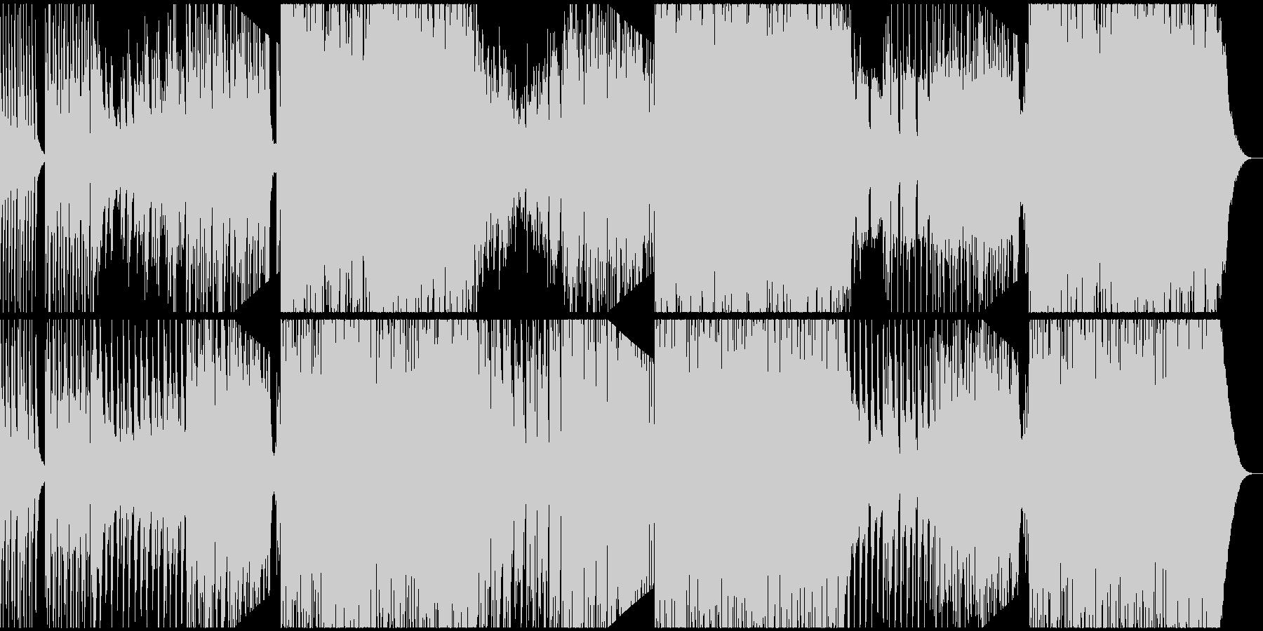 フルートとマリンバのトロピカルEDMの未再生の波形