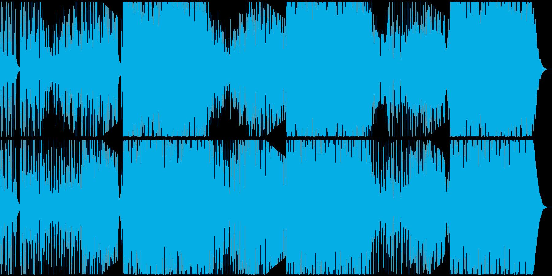 フルートとマリンバのトロピカルEDMの再生済みの波形