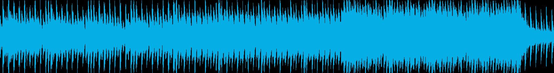 ピアノがキラキラしたJPOP風曲ループaの再生済みの波形