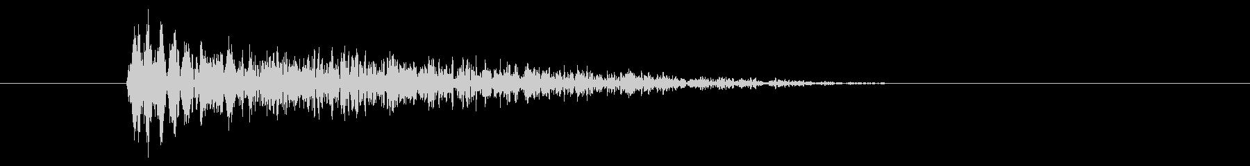 シンプルな打撃音/バシッ/パンチの未再生の波形