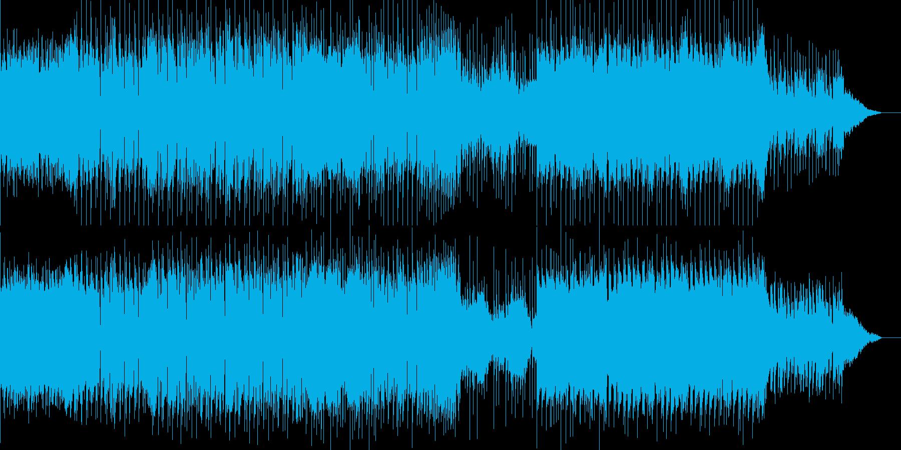 明るくノリが良くどこかほのぼのとする曲の再生済みの波形