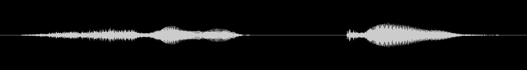 ショックの未再生の波形