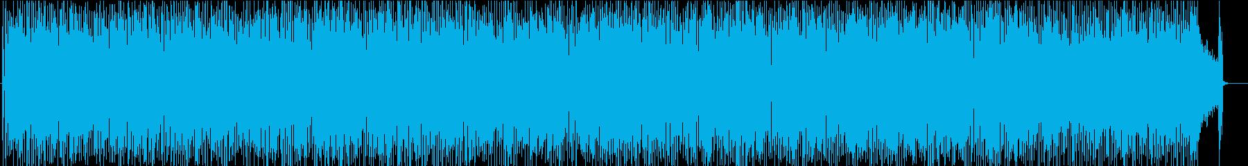 前向きでシンプルなガレージロック調BGMの再生済みの波形