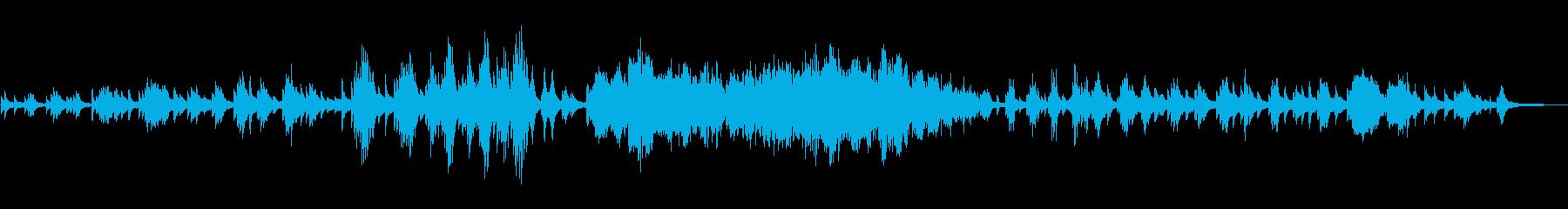 ドビュッシー、月の光の再生済みの波形
