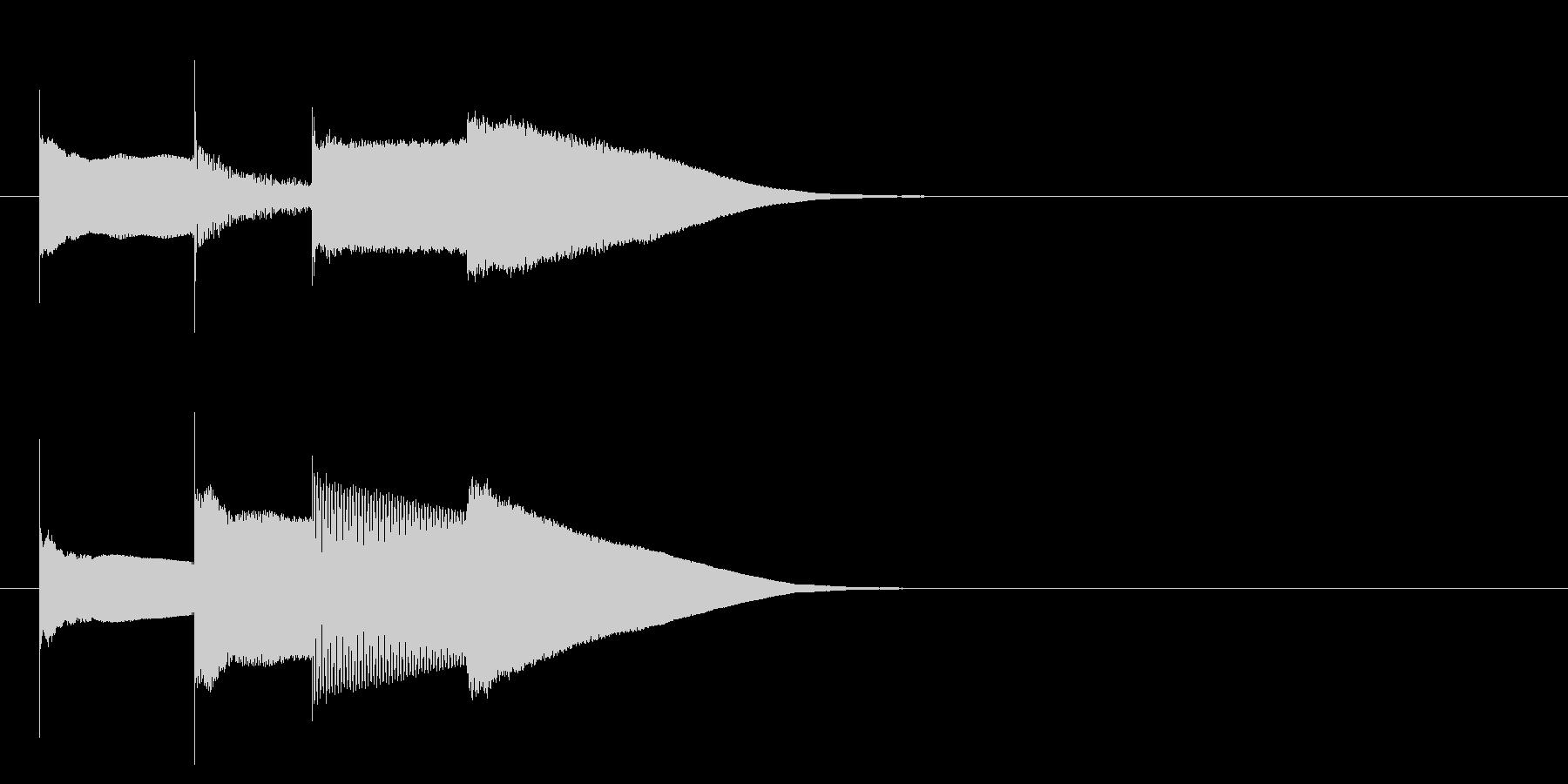 グロッケン系 決定音15(大)の未再生の波形