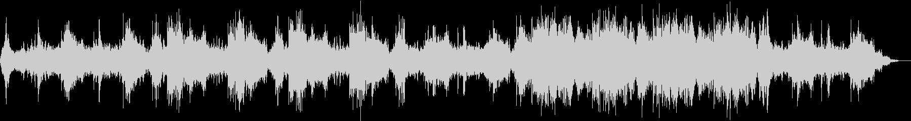 睡眠用のリラクゼーション音楽作品の未再生の波形