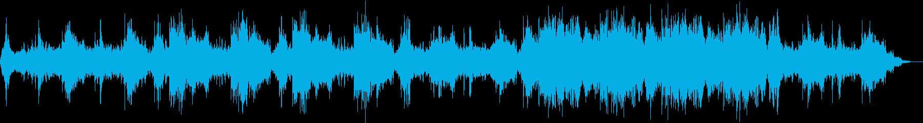 睡眠用のリラクゼーション音楽作品の再生済みの波形