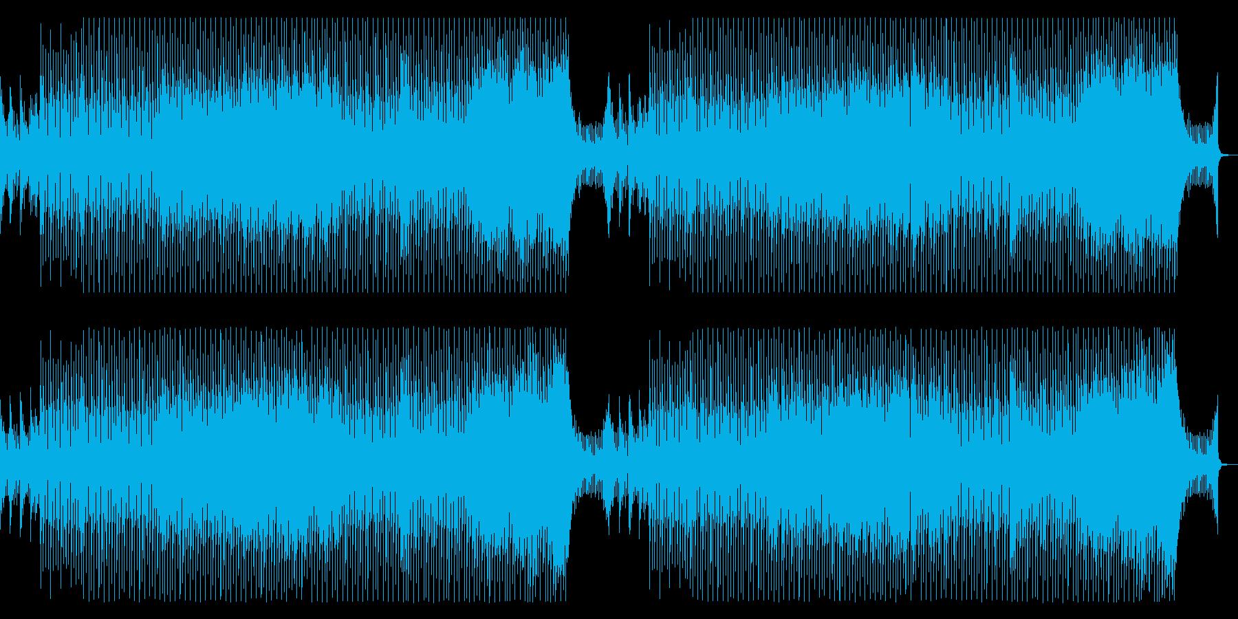 ポジティブで軽快/希望に満ちた曲_2の再生済みの波形