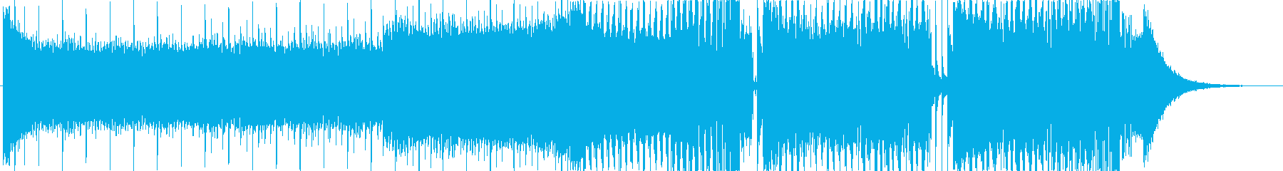 EDMクラブ系ダンスミュージック_3の再生済みの波形
