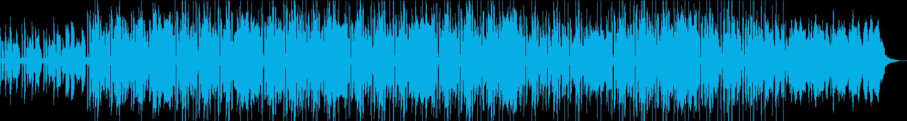 コミカルで可愛くほのぼのした雰囲気の曲の再生済みの波形