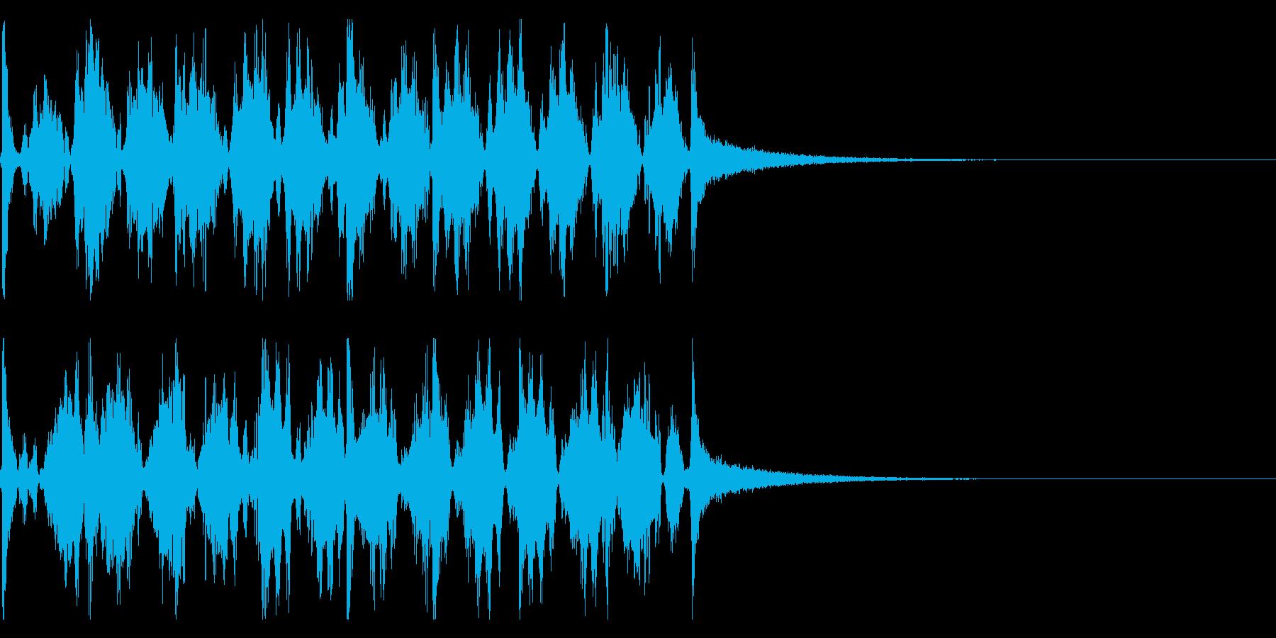 時計の秒針/シンキングタイム効果音!01の再生済みの波形