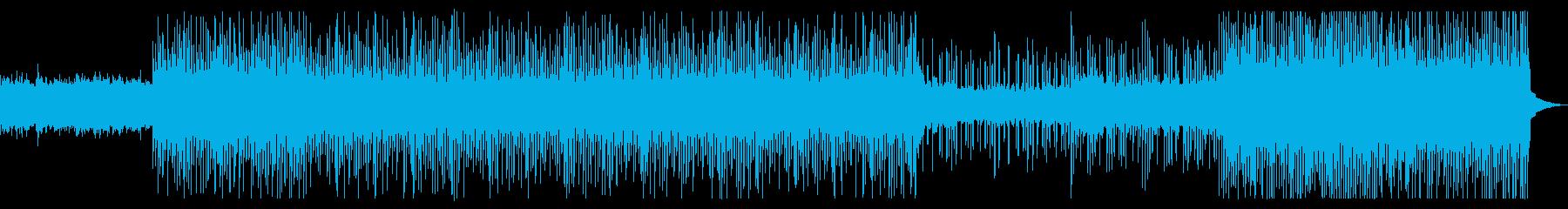 明るい未来空間的な80年代風テクノポップの再生済みの波形