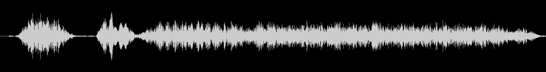 コケコッコー 鶏の鳴き声の未再生の波形