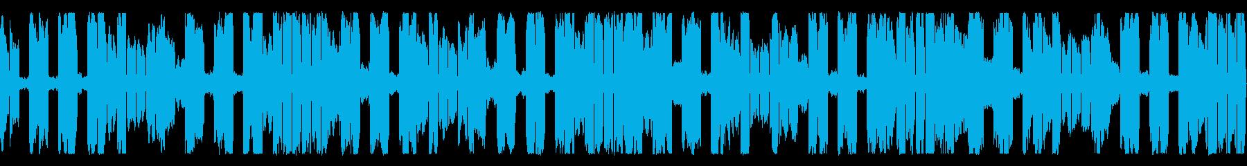 ピコピコサウンドのシンセループ素材の再生済みの波形