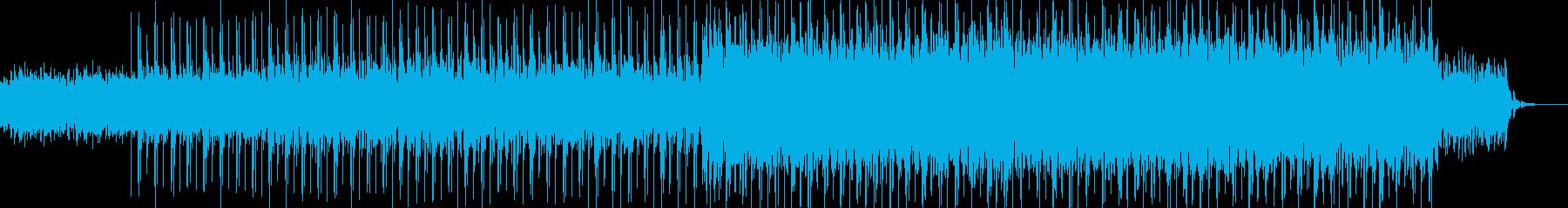 ギターとエレピのバックグラウンドヒップホの再生済みの波形
