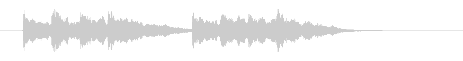 シンプルで煌びやかなポップ音階ジングルの未再生の波形