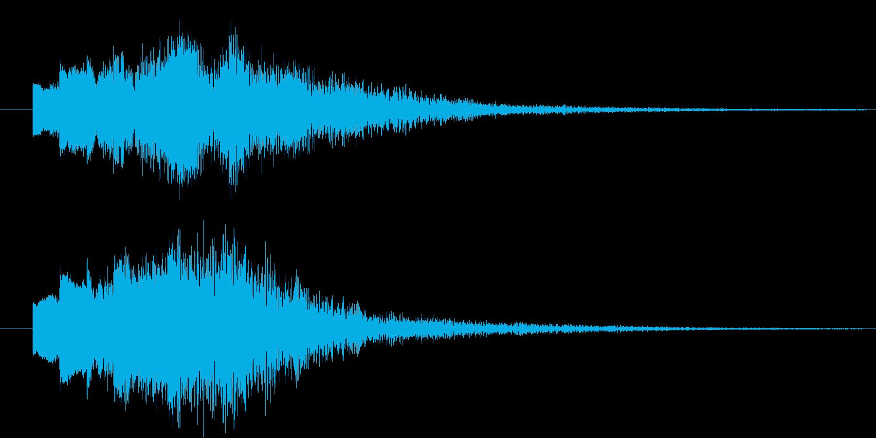 パソコンの起動音のような...。フワー…の再生済みの波形