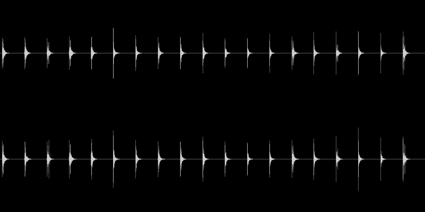 水滴-5の未再生の波形