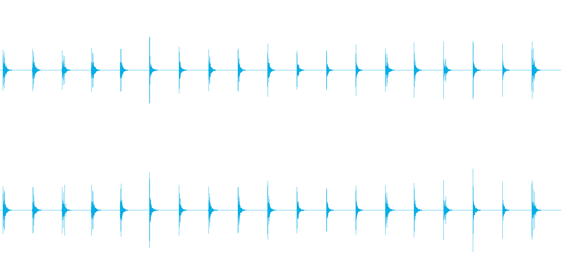 水滴-5の再生済みの波形