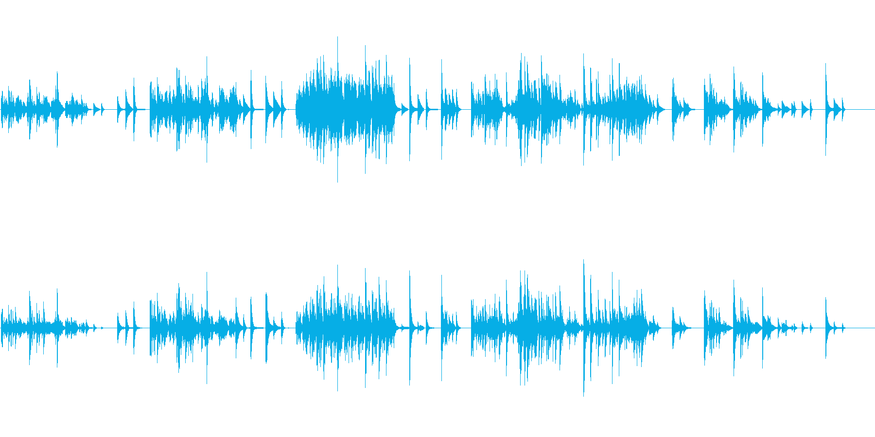 生ピアノソロ・一人の時間(ソフトピアノ)の再生済みの波形