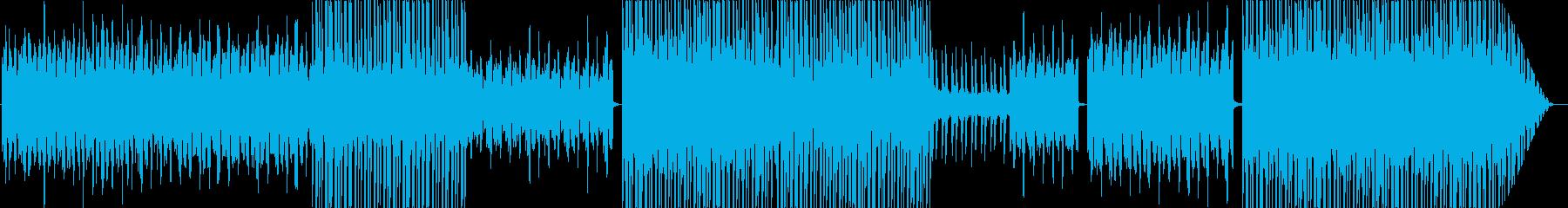 シンセサイザーとラテンビートの再生済みの波形