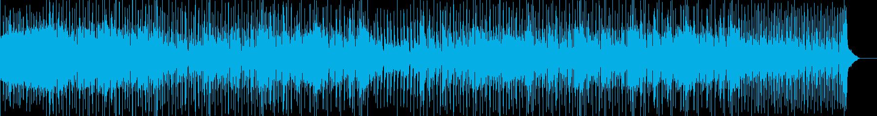 何となくユーモラスな感じのポップス曲の再生済みの波形