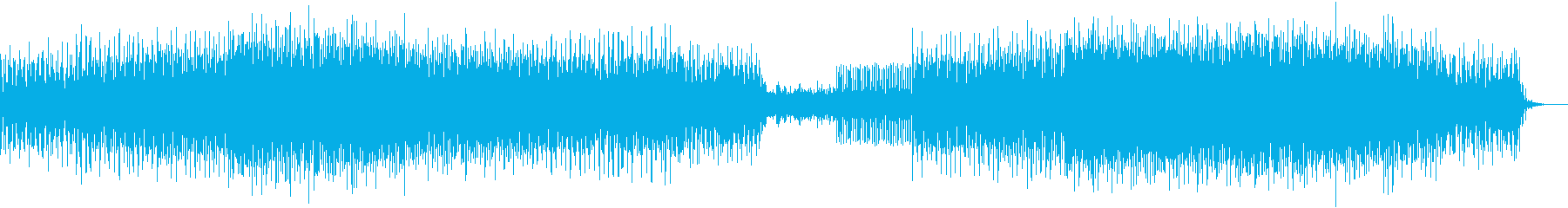 【圧倒される勢い】印象的なダークテクノの再生済みの波形