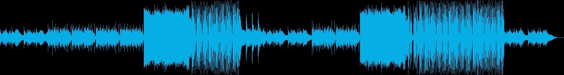 清涼感のあるポップなディープハウスBGMの再生済みの波形